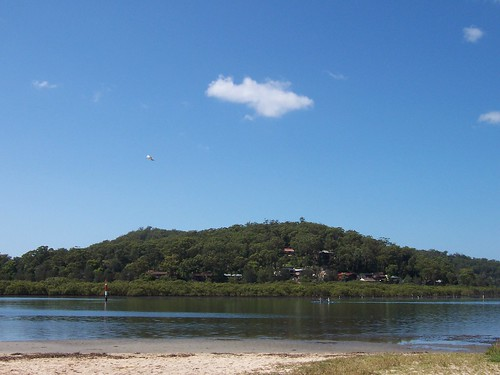 Kayakers & Daleys Point from Illoura Reserve Davistown