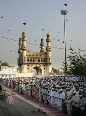 IDD UZ  Zuha Namaz in Hyderabad (crazymaq) Tags: india muslim islam religion eid hyderabad charminar golconda andhrapradesh