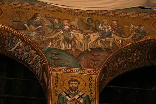 Mosaic of Rebecca at the Well, Cappella Palatina
