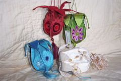 petalpurses -Vessels? (dogdaisy92) Tags: uk collage stitch handmade embroidery sewing rich silk velvet fabric cloth purses machineembroidery tactile art textile