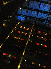 Atrium at night in my hotel by GavinBell, on Flickr