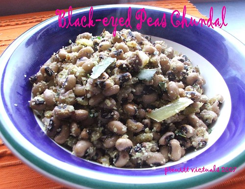 easy recipe black-eyed peas chundal