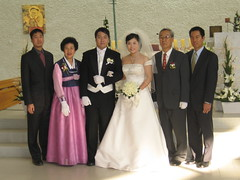 Han family at Han Park wedding