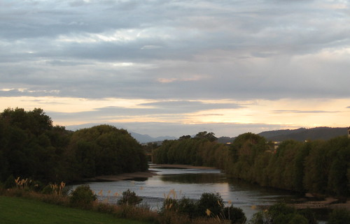 A view up the Hutt River