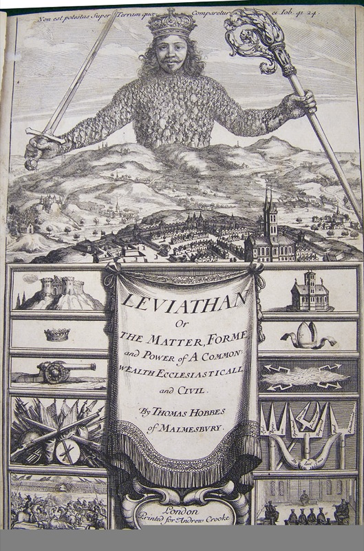 A book called Leviathan by Thomas Hobbes.