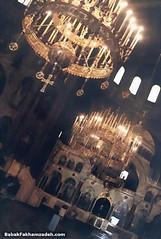 The inside of the very impressive Aleksander Nevsky church