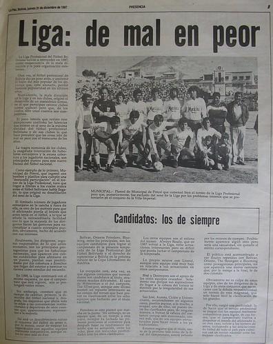 LIGA DE 1987 RESUMEN PRESENCIA