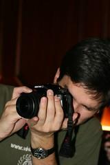 Alex wielding the big camera