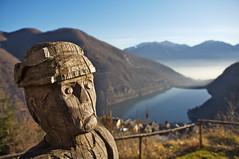 sguardo perplesso (mbeo) Tags: wood statue ticino foto ace explore sguardo photograph statua lagomaggiore legno perplesso gg1 musedelelyse mergoscia valleverzasca instantfave perplexedlook mbeo