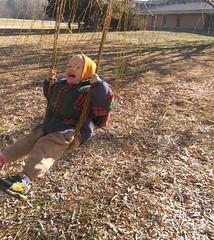 Bubbie in the willow-swing (weavingmajor) Tags: bubbie swing willow weeping salix babylonica pljanuary2007