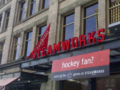 Steamworks sign, by sillygwailo on flickr.com