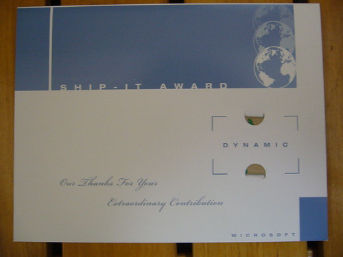 SHIP IT Award letter