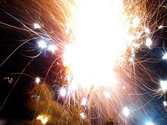 Feuerwerk im Blumenkasten