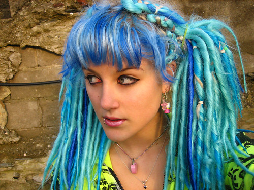Blue dreadies by your_cherry_bomb