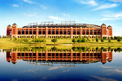 Rangers Ballpark in Arlington from across lake - by StevenM_61