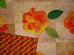 quilt block & background