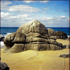 Kingdom of Heaven X (TommyOshima) Tags: color beach nature rock japan kingdom agfa yakushima worldheritage agfaisolai kodakuc100