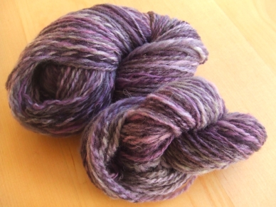 My Handspun Yarn - Spunky Eclectic Purple Haze 2 ply