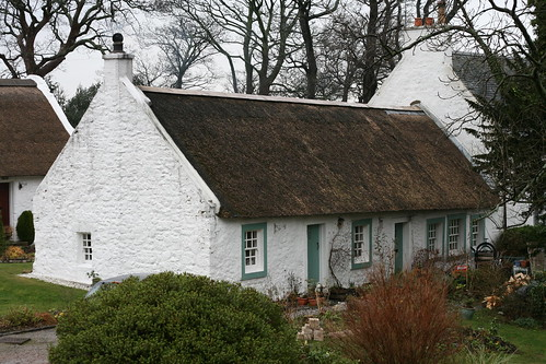 A thatched cottage in Swanston Village