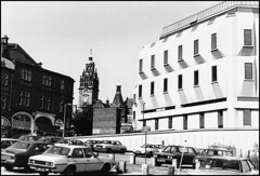 Sheffield 1982: town hall (Simon_K) Tags: 1982 sheffield yorkshire townhall carpark demolished southyorkshire eggbox norfolkstreet