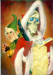 Death as Hogfather, by Paul Kidby