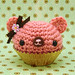 Amigurumi Chocolate rose cupcake bear