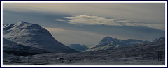 The valley and the mountains (joningic) Tags: blue winter mountains nature iceland hrgrdalur