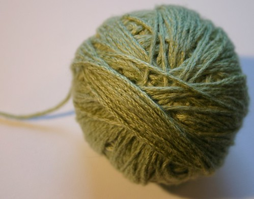 ball of minty yarn