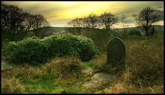 (andrewlee1967) Tags: cemetery uppermill lancashire andrewlee1967 uk superaplus aplusphoto england landscape graveyard focusman5 andrewlee greenfield canon400d sunset britain