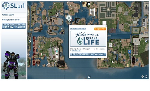 Second Life Map Advertising