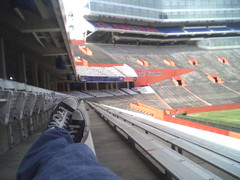 Relaxing at Ben Hill Griffin Stadium