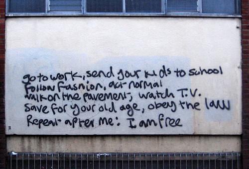 Grafitti acerca de la libertad
