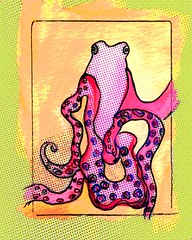 Ozzie (artpaw [rebecca collins]) Tags: art digital watercolor drawing squid octopus