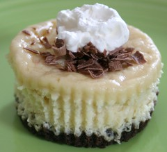 Caramel Irish Cream Mini Cheesecake