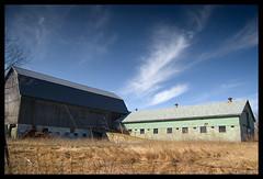 not all barns are red! (Ledio (mostly away)) Tags: winter abandoned barn d50 landscape nikon michigan clarkston ruralmichigan peisazh piesazh