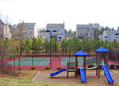 recreation (BoringPostcards) Tags: atlanta house home georgia developer suburb sprawl neighbors neighbor conformity mcmansion subdivision