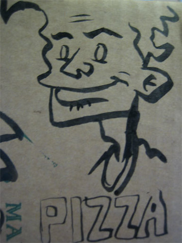 char28e - Pizza Box Doodles