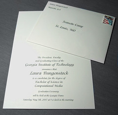 Graduation Announcements (Laura...Laura...Laura) Tags: typography graphicdesign diy graduation announcement georgiatech gatech adobeillustrator graduationannouncements