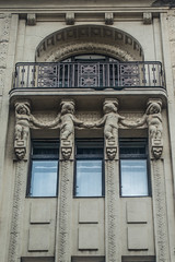 20160919 Budapest, Hungary 03544 (R H Kamen) Tags: budapest easterneurope hungary architecture balcony buildingexterior builtstructure facade putti rhkamen sculpture