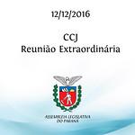 CCJ - Reunião Extraordinária 12/12/2016