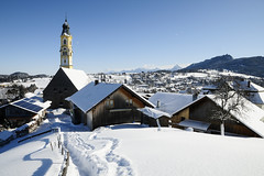 Winterday Bavaria (JohannesMayr) Tags: pfronten allgäu bayern bavaria deutschland germany winter schnee snow berge mountain kirche dorf church village schatten