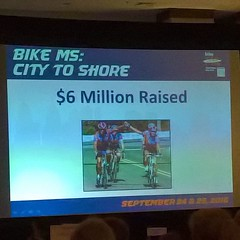 $6 million raised this year. Thank you for your support. #bikemscitytoshore2016 (bcaccava) Tags: december 07 2016 0744pm 6 million raised this year thank you for your support bikemscitytoshore2016