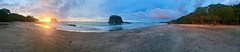 Baya De Los Pirates (toxisland) Tags: toxisland colors colori oceano pacificocean sunset light sand sabbia beach playa tramonto fullwiew panoramic lanscape iphone clouds nuvole sky cielo costarica alberi tree arbol people colores reflection riflesso