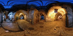 Khaski Sultan - Jerusalem, Old City - 360 (Sam Rohn - 360 Photography) Tags: street travel panorama night geotagged photography photo interesting nikon arch peace exterior d70 nikond70 dusk availablelight palestine jerusalem middleeast paz location panoramic photograph pace judaism nikkor filmmaking stitched holyland filmproduction 360x180 oldcity magichour qtvr scouting 360 paix islamicarchitecture 360x180 panography alquds filmlocation locationscouting virtualtour locationscout equirectangular 105mmf28gfisheye filmlocations rohn muslimarchitecture filmscouting nylocations samrohn realvizstitcher locationscouts elwad virtualjerusalem filmscout virtiualtour khaskisultan