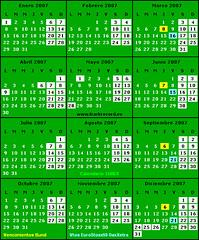 Calendario Eurex 2007