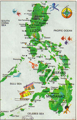 PHILIPPINE MAP POST CARD (Bulaclac Paruparu) Tags: cards post philippine