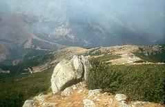 Dans la descente, sur la crête en direction de Punta Grado