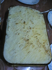 shepherd's pie out of the oven!