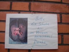 Essen shoe notice