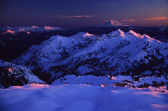 Pink winter (velvia rules!) Tags: mountain mountains cold color colour nature beautiful berg landscape washington hiking natur glacier berge climbing mountaineering wilderness mtrainier landschaft farbe soe bergsteigen abigfave anawesomeshot fiveflickrfavs